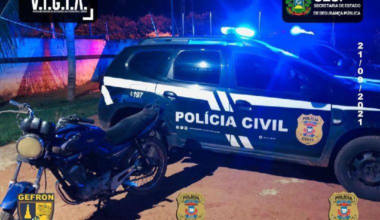 Gefron e Polícia Civil recuperam motocicleta que estava em poder de um estrangeiro (Crédito: Reprodução)