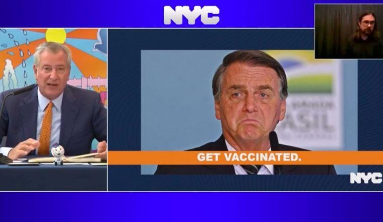 'Se você não quer se vacinar, nem precisa vir', diz prefeito de Nova York a Bolsonaro (Crédito: Reprodução)